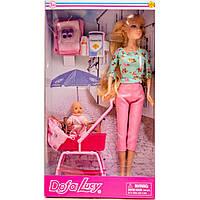 Кукла с коляской Defa 8358