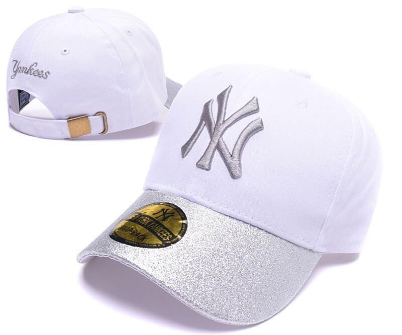 "Кепка MLB New York Yankees Snapback ""Silver/White"" Арт. 2577"