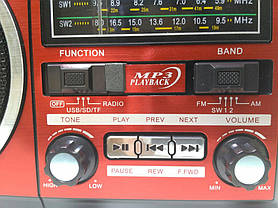 Портативная колонка MP3 USB Golon RX-277LSD Solar с солнечное панелью Wooden, фото 3