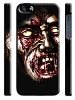 Чехол  на айфон 5/5s  черепа skills ужасы кровь зомби