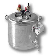 Автоклав бытовой электрический Гуд-8 на 8 банок (нержавеющая сталь), фото 1