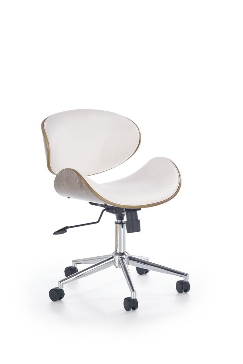 Компьютерное кресло ALTO белый/светлый дуб Halmar