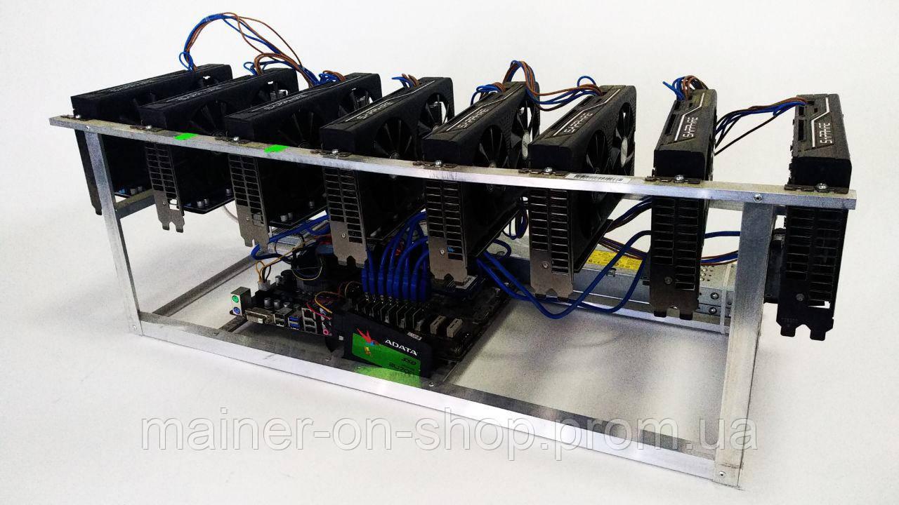 Ферма GPU для майнинга Sapphire Mining Edition RX470 4 gb 8 GPU: продажа,  цена в Киеве  оборудование