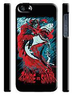 Чехол  на айфон 5/5s zombie shark акула зомби