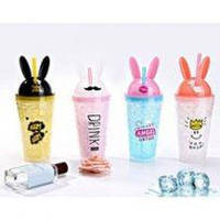 Бутылочка Кролик с ушками термочашка стакан термос май ботл для воды, фото 1