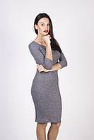 Молодежное платье из текстиля СЕРОЕ, фото 1