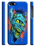 Чехол  на айфон 5/5s zombie зомби и птичка