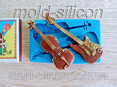 """Силиконовый молд """"Гитара со скрипкой"""""""