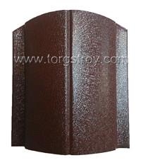 Штакетина, ширина 13см, цвет темно-коричневый, RAL 8019