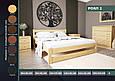 """Кровать деревянная """"Роял-2"""" 0,9 ольха, фото 3"""