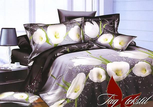 Семейный комплект постельного белья с Цветами, Ранфорс, фото 2