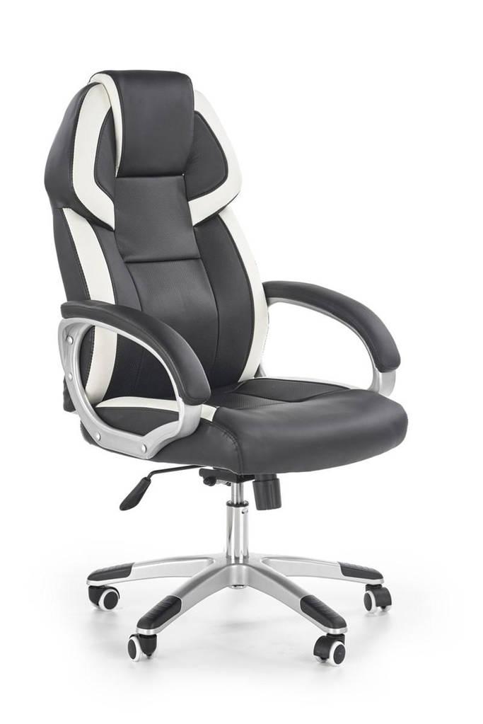 Компьютерное кресло BARTON черный/белый Halmar