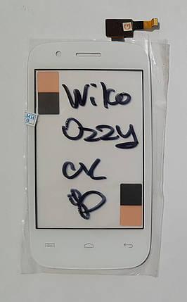 Сенсор (тачскрин) для Wiko Ozzy белый, фото 2