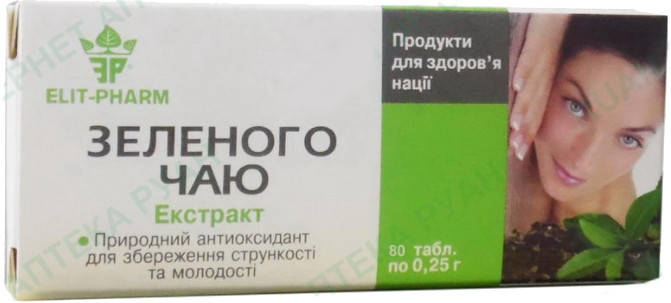 Зеленого чая экстракт 80таб, фото 2