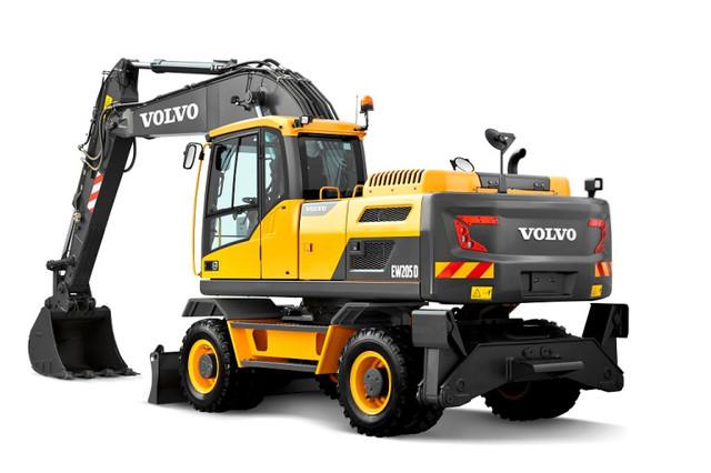 Колесные экскаваторы Volvo