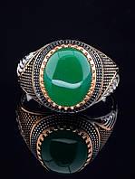 Кольцо Хризопраз (серебро/золото)