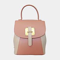 Сумка-рюкзак жіноча комбінована (пудра+беж) / Сумка-рюкзак женская комбинированная (пудра+беж), фото 1