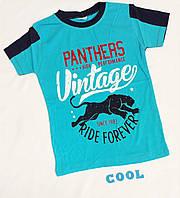 "Футболка ""Пантера"", коттон, размер 134-152 лет, голубой"