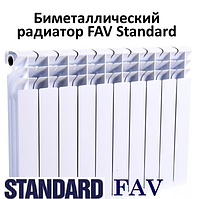 Биметаллический радиатор FAV Standard 500х80х80 (Польша), фото 1