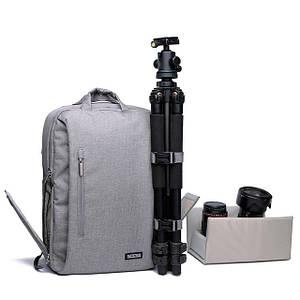Фотосумки та рюкзаки для фотоапаратів, розвантаження.