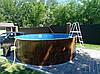 Каркасный бассейн круглый Azuro Easy 4,6 м х 1,07 м с лестницей и песочным фильтром
