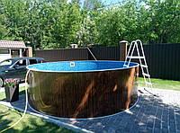 Каркасный бассейн круглый Azuro Easy 4,6 м х 1,07 м с лестницей и песочным фильтром, фото 1