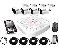 Уличный комплект AHD видеонаблюдения Longse 2M4N c 4 камерами 2 Мп + HDD 1000Гб