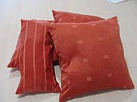 Комплект подушек терракот квадратик и полоска, 4шт , фото 1