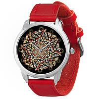 Женские часы Andywatch Абстракция из бабочек AW 567 красные