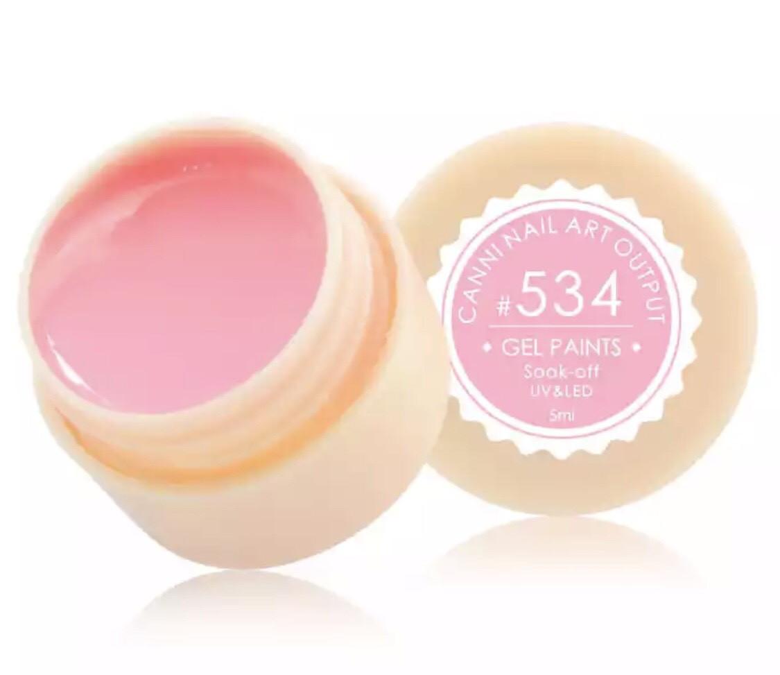 Гель-фарба CANNI 534 (пастельно-рожевий), 5 мл