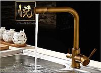 Смеситель для кухонной мойки с краником для питьевой воды 1-029, фото 1