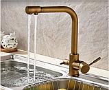 Смеситель для кухонной мойки с краником для питьевой воды 1-029, фото 2