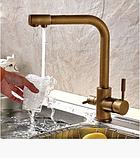 Смеситель для кухонной мойки с краником для питьевой воды 1-029, фото 3