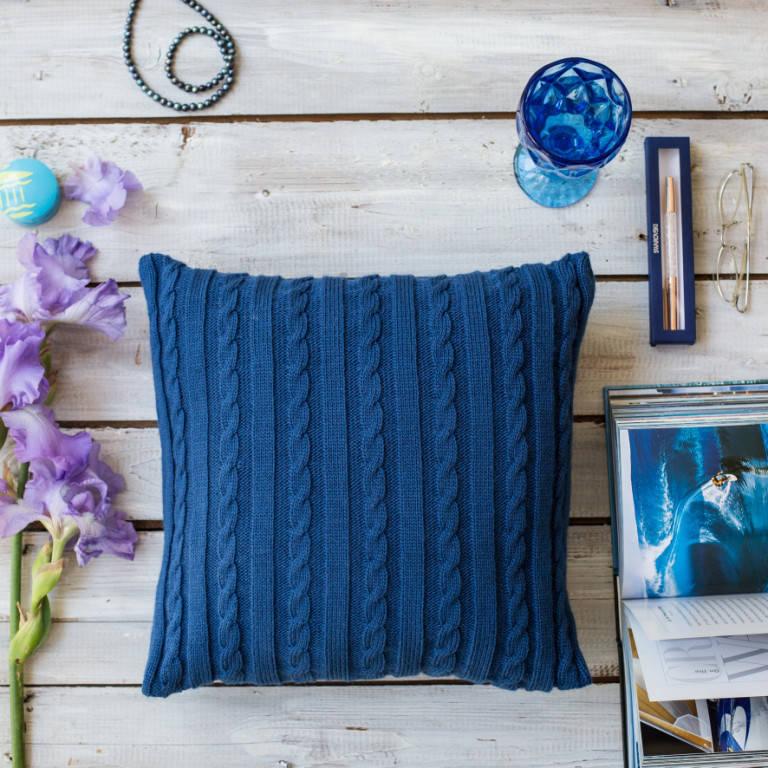 Подушка декоративная Vividzone КЛАССИК 40х40 синий