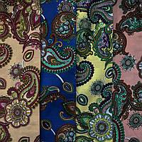 Ткань коттон набивной легкий (Восточный рисунок), фото 1