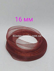Лента из органзы 16 мм.,20 ярдов, бордовый