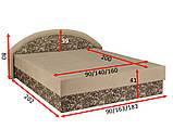 Ліжко Рів'єра 160х200 Віка, фото 6