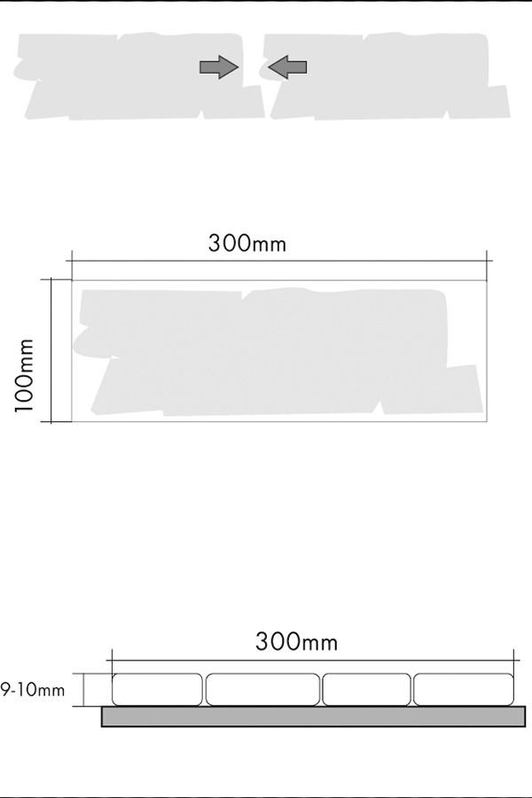 мозаика из мрамора 30.5х30.5см зазоры схематическое изображение
