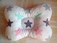 """Ортопедична подушка """"Метелик"""" (зірочки). Ортопедическая подушка """"Бабочка"""" для новорожденных"""