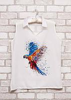 Женская блузка безрукавка с принтом  p.48 B48-6