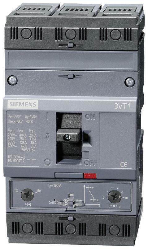 Выключатель автоматический Siemens 3VT1, I= 160A, 3VT1716-2EB46-0AA0