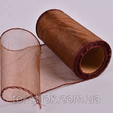 Органза коричневая 25   Все для флористики и декора в Херсоне