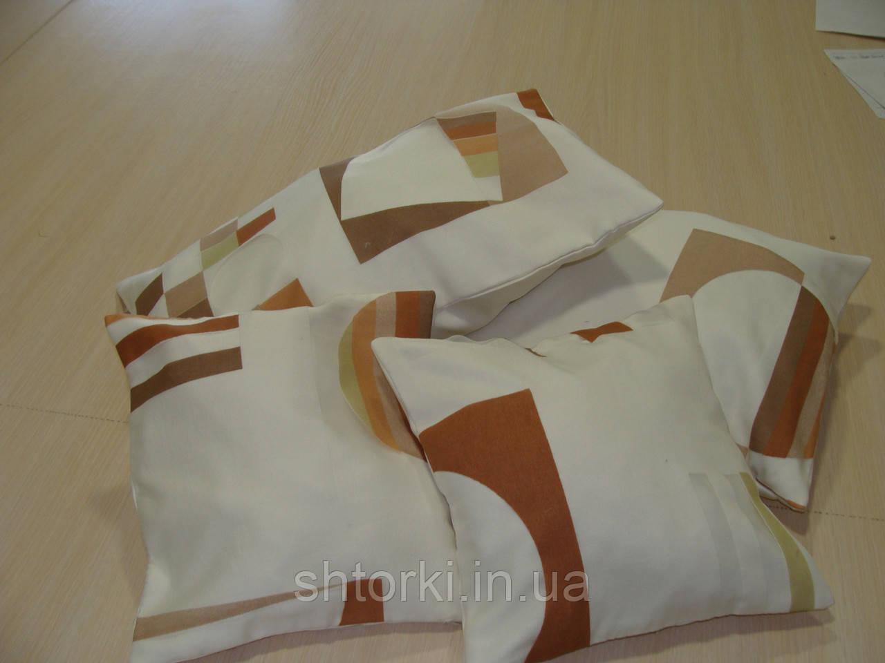 Комплект подушек Абстракция коричневая, 4шт