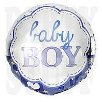 Фольгированный шарик Baby Boy синий, 45*45 см