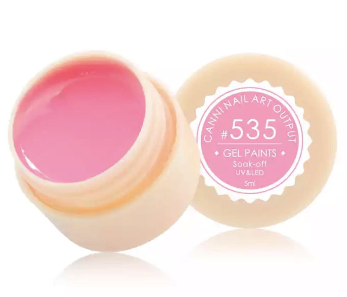 Гель-краска CANNI 535 (розовый), 5 мл