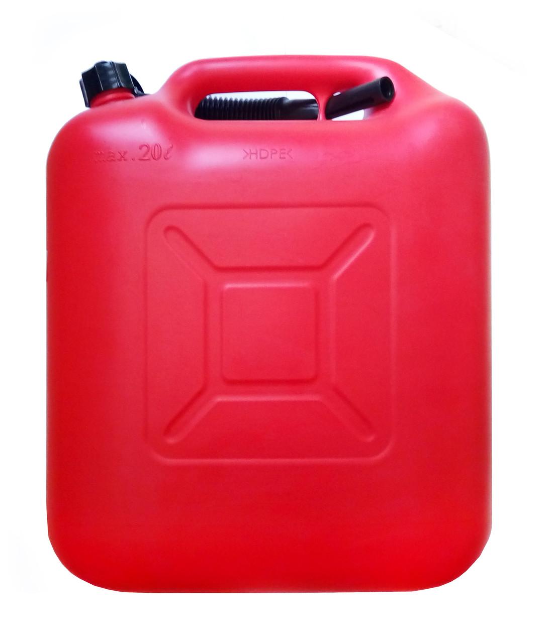 купить пластиковую канистру 20 литров для бензинаКанистра пластиковая Rexxon с лейкой 20л
