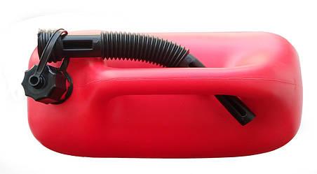 купить пластиковую канистру 20 литров для бензинаКанистра пластиковая Rexxon с лейкой 20л , фото 2
