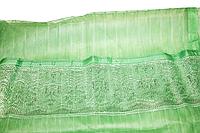 Антимоскитная сетка (шторка) на магнитах с декоративной накладкой 100х210см  Зеленая