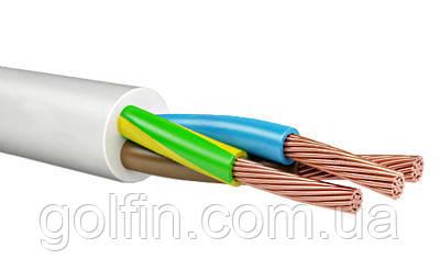 Провод соединительный ПВС 4х25 белый Интерэлектро