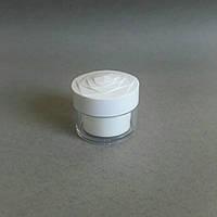 Баночка акриловая с белой вставкой (с резьбой на крышке) 30мл